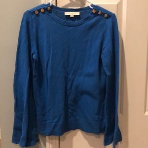Blue bell sleeve sweater